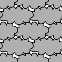 hand getekend grijs, zwart otulined wolkenpatroon