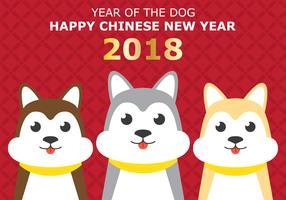 Chinees nieuwjaar van de hond vector