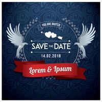 Bruiloft sparen de datum Vector
