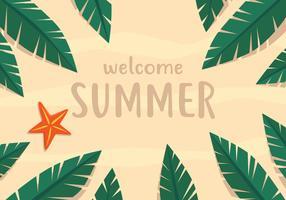 zomer strand kaart vector