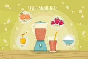 Smoothie en ingrediënten Vectoren