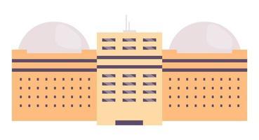 faciliteit met meerdere verdiepingen met koepelvormig dak vector