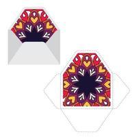 mandala patroon papieren mouw sjabloon. vector