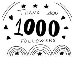 bedankt volgers banner voor sociaal netwerk