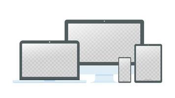 desktopcomputer, laptop en smartphone