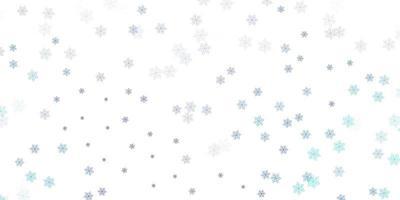 lichtblauw doodle patroon met bloemen.