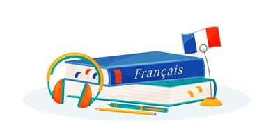 franse leerboeken vector