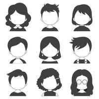 collectie met een grote verscheidenheid aan avatars vector