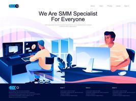 wij zijn smm-specialist voor iedereen isometrische bestemmingspagina.