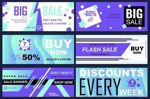 set verkoopbanners voor online winkelen