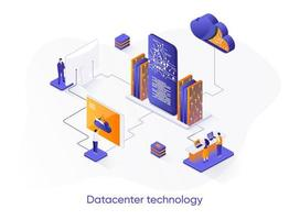 datacenter technologie isometrische webbanner.