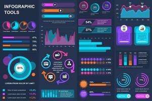 bundel infographic ui, ux, kit-elementen.