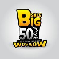 grote verkoop korting promotie sjabloon vector