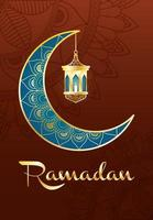 ramadan viering banner met gouden maan