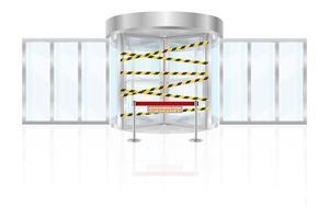 toegang verboden vanwege epidemische coronavirus covid-19 vector