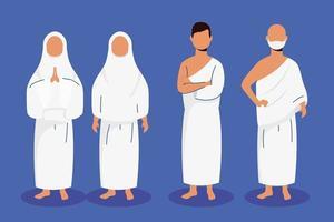 hadj bedevaart moslim mensen vector