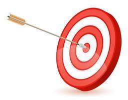 doelwit en pijl om te schieten