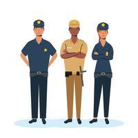 beveiligingsgroep, essentiële werknemerspersonages vector