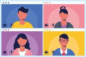 mensen op een virtuele telefonische vergadering