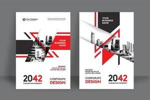stad achtergrond zakelijke boekomslag ontwerpsjabloon