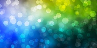 lichtblauwe, gele textuur met cirkels.