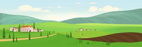 plantseizoen in dorpjes op een heuvel