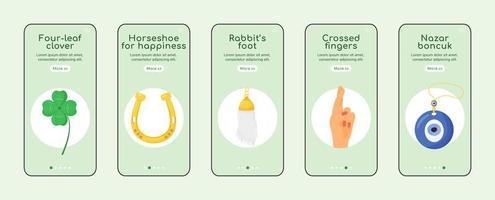 gelukssymbolen onboarding mobiele app