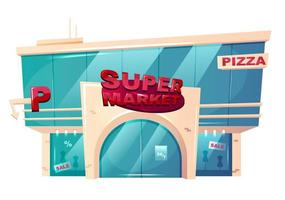 supermarkt voorkant gebouw