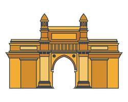opbouw van de gateway van india geïsoleerde pictogram