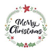 kerst belettering ontwerp met decoraties