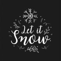 vrolijk kerstfeest belettering ontwerp en decoraties