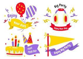 partij label logo's voor banner vector
