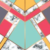 marmeren textuurontwerp met gouden geometrische lijn vector