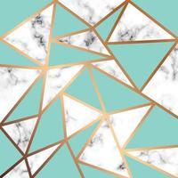 marmeren textuurontwerp met gouden geometrische lijnen