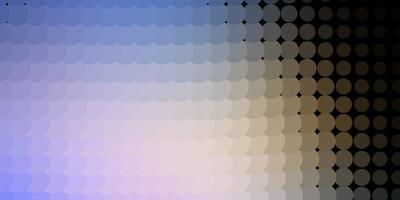 lichtblauw, geel patroon met bollen.