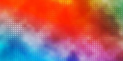 lichtblauw, rood patroon met bollen.