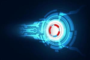 abstract technologisch concept als achtergrond met verschillende technologie-elementen. illustratie vector