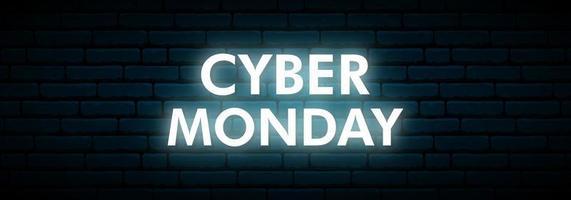 cyber maandag neon teken. vector