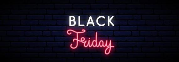 zwarte vrijdag verkoop neon teken.