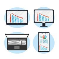 zakelijke gadgets pictogramserie