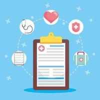 ziektekostenverzekering concept samenstelling vector