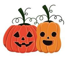 halloween pompoenen tekenfilms ontwerp