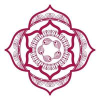 mandala in frame roze ontwerp vector