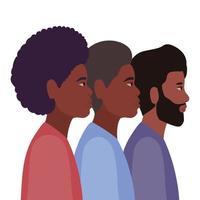 mannen cartoons in zijaanzicht ontwerp