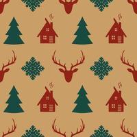 retro Kerstmis naadloos patroon.