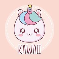 kawaii eenhoorn dierlijk beeldverhaalontwerp vector