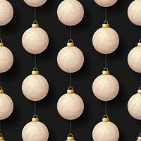 Kerst opknoping volleybal ornamenten naadloze patroon