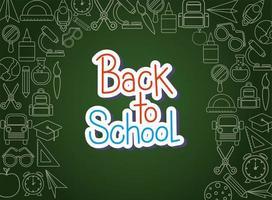 krijt icon set van terug naar schoolbestuur