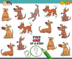 uniek spel voor kinderen met honden vector