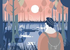 Bayou Avonturier Illustratie Vector